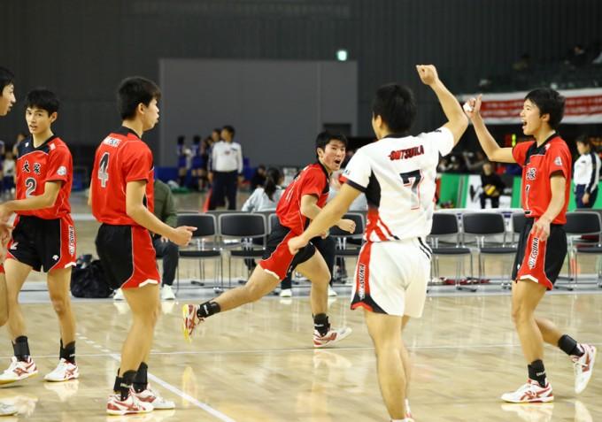 男子バレーボール部部活ブログ写真
